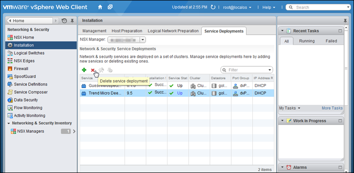Uninstall Deep Security from your NSX environment | Deep Security