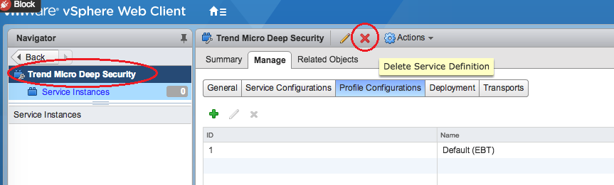 Uninstall Deep Security from your NSX environment | Deep